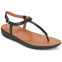 Sko Dame Flip flops FitFlop TIA TOE THONG SANDALS Sort