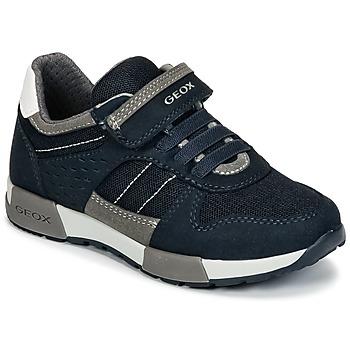 Sko Dreng Lave sneakers Geox J ALFIER B. A Marineblå / Grå