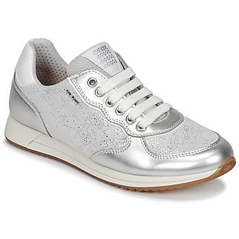 Sko Pige Lave sneakers Geox J JENSEA G. D Grå / Sølv