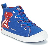 Sko Dreng Høje sneakers Geox B KILWI B. F Blå / Rød