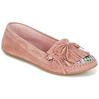 Sko Dame Mokkasiner Ippon Vintage MOC-WAX-ROSE Pink