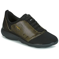 Sko Dame Lave sneakers Geox D NEBULA C Guld / Sort