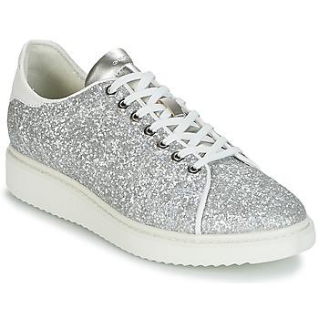 Sko Dame Lave sneakers Geox D THYMAR C Sølv / Hvid