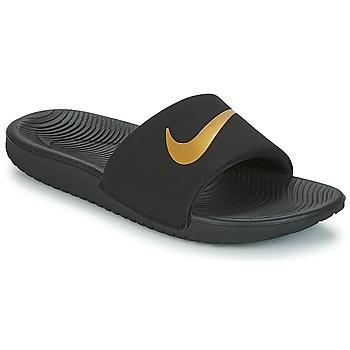 Sko Børn badesandaler Nike KAWA GROUNDSCHOOL SLIDE Sort / Guld