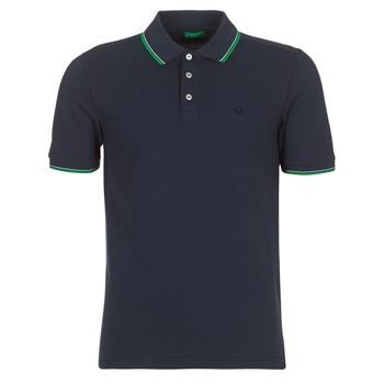 textil Herre Polo-t-shirts m. korte ærmer Benetton MADURI Marineblå