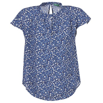textil Dame Toppe / Bluser Benetton TOULEOK Blå / Hvid