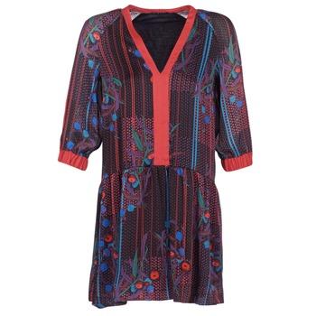 textil Dame Korte kjoler Sisley CEPAME Sort / Rød / Blå