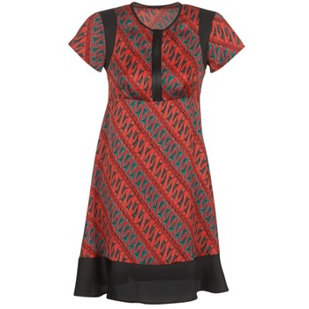 textil Dame Korte kjoler Sisley ZEBRIOLO Rød / Sort
