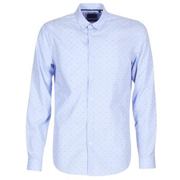 textil Herre Skjorter m. lange ærmer Sisley KELAPSET Blå / Lys