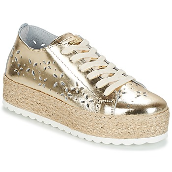 Sko Dame Lave sneakers Guess MARLEY Guld