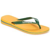 Sko Flip flops Havaianas BRAZIL LOGO Gul