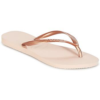Sko Dame Flip flops Havaianas SLIM Pink / Guld