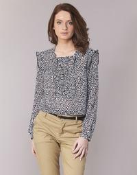 textil Dame Toppe / Bluser Maison Scotch OLZAKD Sort / Hvid