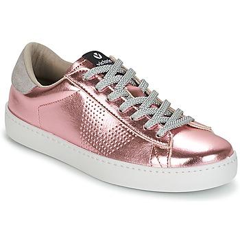 Sko Dame Lave sneakers Victoria DEPORTIVO METALIZADO Pink