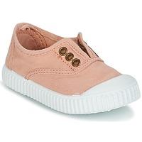 Sko Pige Lave sneakers Victoria INGLESA LONA TINTADA Pink