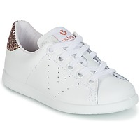 Sko Pige Lave sneakers Victoria DEPORTIVO BASKET PIEL KID Hvid