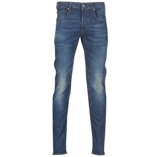 textil Herre Smalle jeans G-Star Raw 3301 SLIM Blå