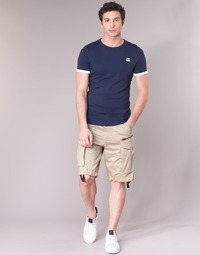 textil Herre Shorts G-Star Raw ROVIC ZIP LOOSE 1/2 Beige