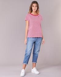 textil Dame Jeans - boyfriend G-Star Raw 3301 HIGH BOYFRIEND 7/8 WMN Lys / Ældet / Small / Destroy