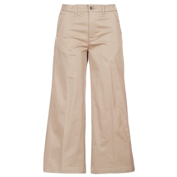 textil Dame Chinos / Gulerodsbukser G-Star Raw BRONSON HIGH LOOSE CHINO 7/8 WMN Beige