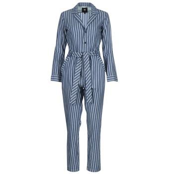 textil Dame Buksedragter / Overalls G-Star Raw DELINE JUMPSUIT WMN L/S Blå / Hvid