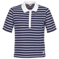 textil Dame Polo-t-shirts m. korte ærmer Armor Lux POLAED Marineblå / Hvid