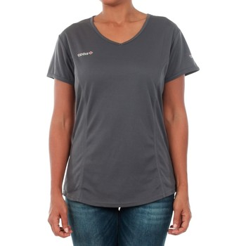 textil Dame T-shirts m. korte ærmer Izas ADAIA DARK GREY Gris oscuro