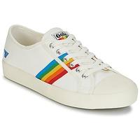 Sko Dame Lave sneakers Gola COASTER RAINBOW Hvid