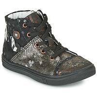 Sko Pige Chikke støvler Catimini ROUSSEROLLE Vtc / Sort-kobberrØd / Dpf / Dolby
