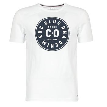 textil Herre T-shirts m. korte ærmer Esprit GRAHAM Hvid