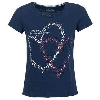 textil Dame T-shirts m. korte ærmer Esprit WEJA Marineblå