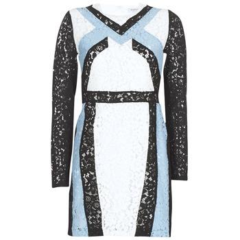textil Dame Korte kjoler Morgan RLIXI Hvid / Sort / Blå