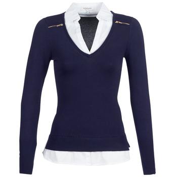textil Dame Pullovere Morgan MYLORD Marineblå / Hvid