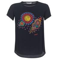 textil Dame T-shirts m. korte ærmer Desigual NAIKLE Sort