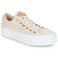 Sko Dame Lave sneakers Converse Chuck Taylor All Star Lift-Ox Beige / Hvid