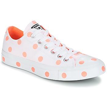 Sko Dame Lave sneakers Converse Chuck Taylor All Star-Ox Hvid / Orange