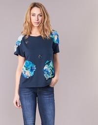 textil Dame T-shirts m. korte ærmer Derhy BANGKOK Marineblå