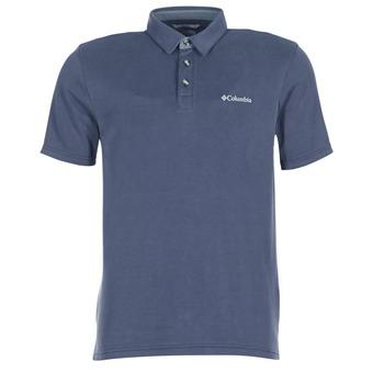 textil Herre Polo-t-shirts m. korte ærmer Columbia NELSON POINT POLO Marineblå