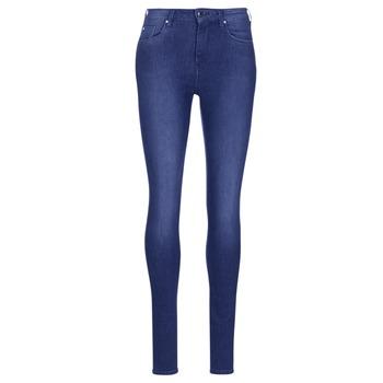 textil Dame Jeans - skinny Pepe jeans REGENT Blå / Ce2 / Cristaux / Swarorsky