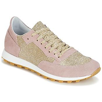 Sko Dame Lave sneakers Yurban CROUTA Pink / Gylden