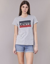 textil Dame T-shirts m. korte ærmer Levi's THE PERFECT TEE Grå