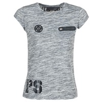 textil Dame T-shirts m. korte ærmer Philipp Plein Sport SITTIN OVER HERE Grå