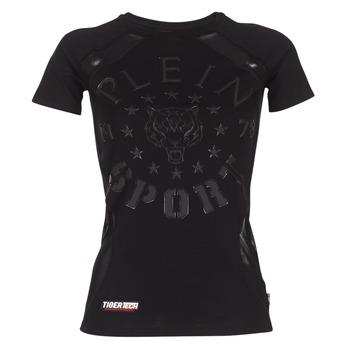 textil Dame T-shirts m. korte ærmer Philipp Plein Sport FORMA LINEA Sort