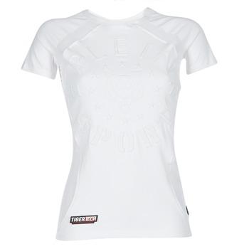 textil Dame T-shirts m. korte ærmer Philipp Plein Sport FORMA LINEA Hvid / Hvid