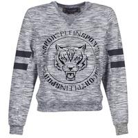 textil Dame Sweatshirts Philipp Plein Sport LET YOUR MIND FREE Grå
