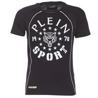 textil Herre T-shirts m. korte ærmer Philipp Plein Sport LIONEL Sort / Hvid