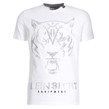textil Herre T-shirts m. korte ærmer Philipp Plein Sport EDBERG Hvid / Sølv