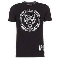 textil Herre T-shirts m. korte ærmer Philipp Plein Sport IVAN Sort / Sølv