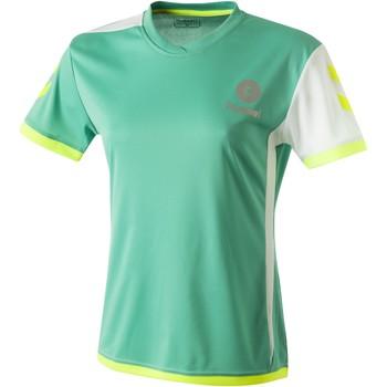 textil Dame T-shirts m. korte ærmer Hummel Maillot Femme  Trophy vert/blanc