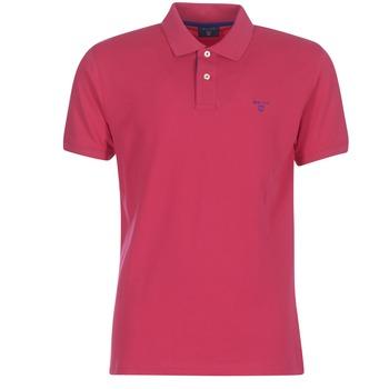 textil Herre Polo-t-shirts m. korte ærmer Gant CONTRAST COLLAR PIQUE RUGGER Rød